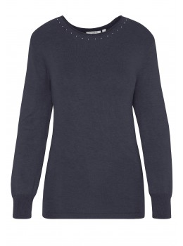 Klassischer Pullover mit Strass
