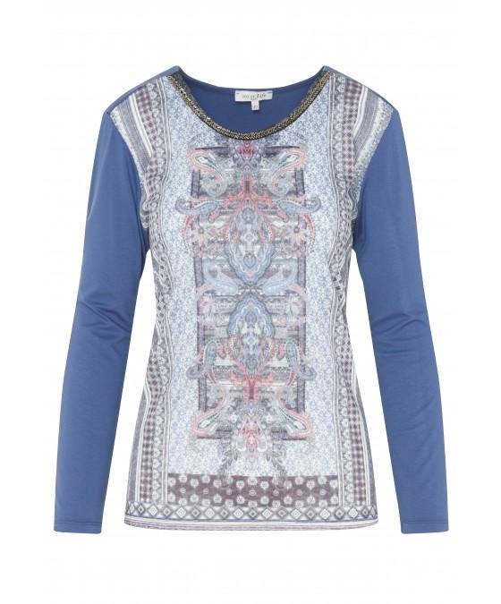 Modisches Shirt mit bedrucktem Vorderteil 18132-663 front