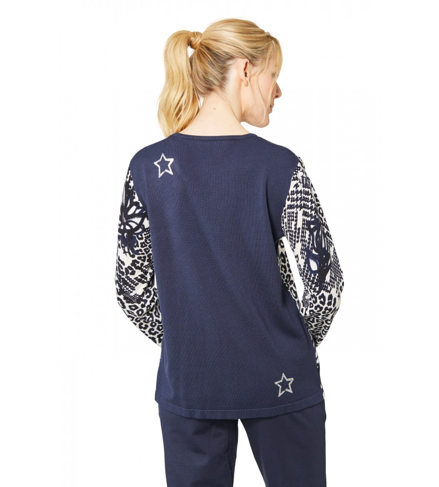 Rundhals Pullover 18645-609 back