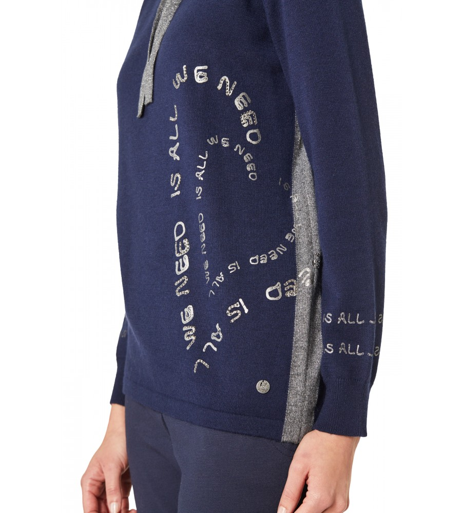 Pullover mit halsfernem Rollkragen 18668-609 back