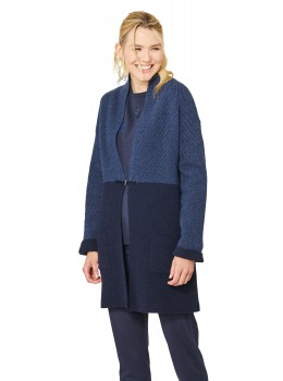 Modische Long-Strickjacke