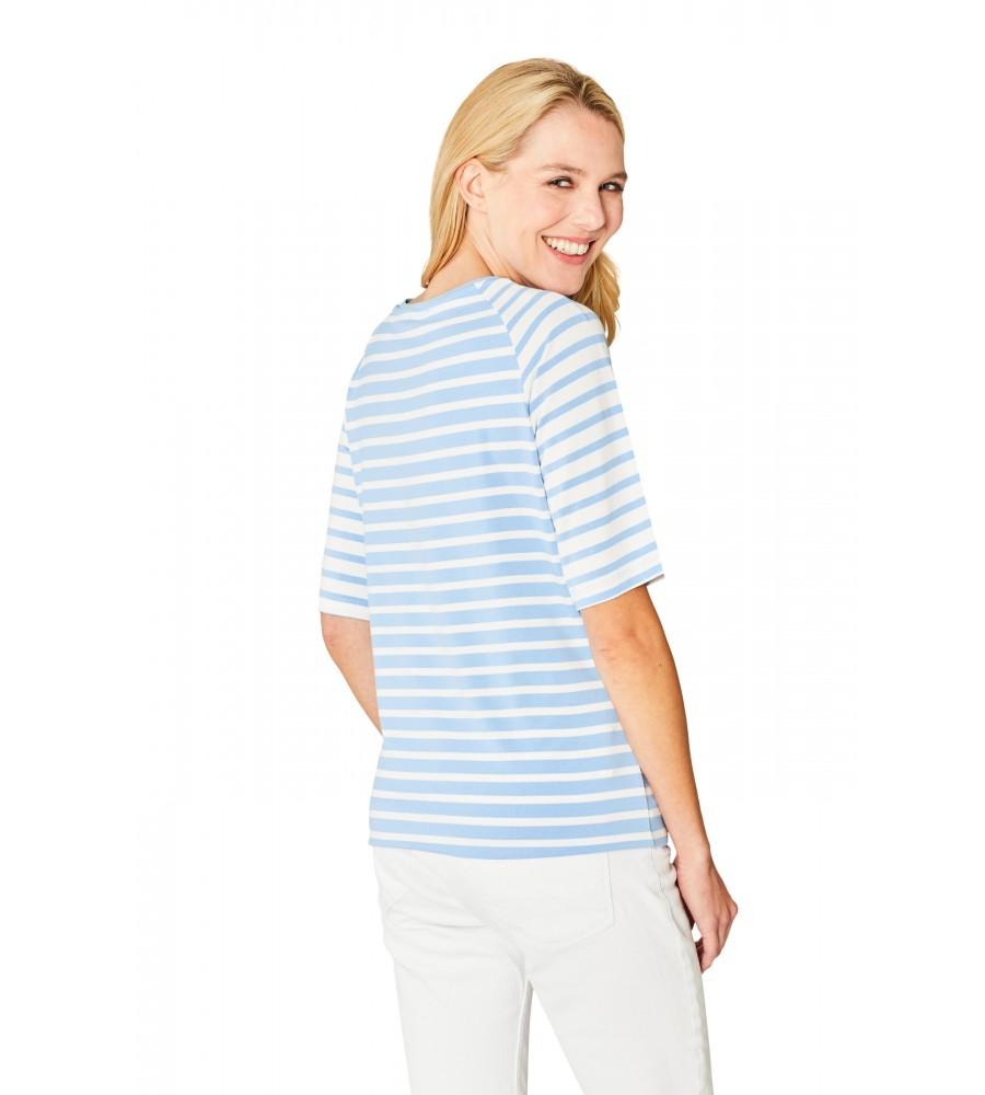 Hochwertiges Shirt Rundhals Halbarm 18862-680 back