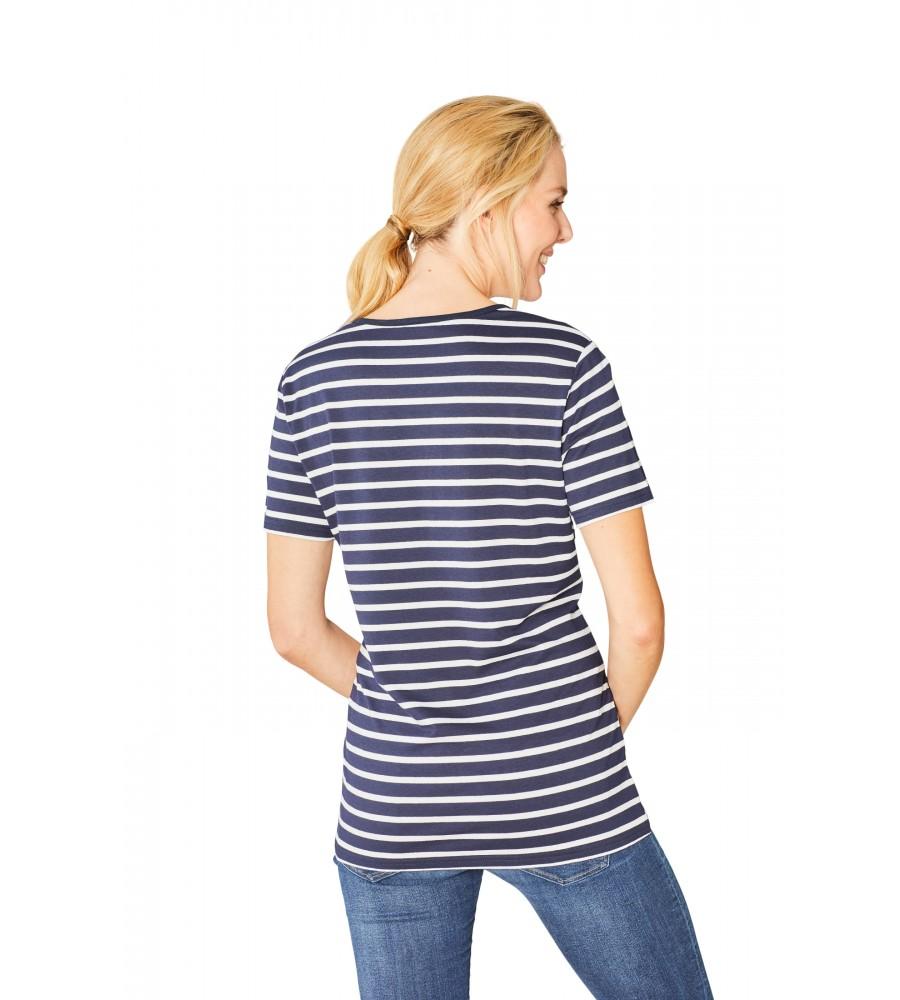 Feminines Shirt Y-Ausschnitt Halbarm 18870-609 back