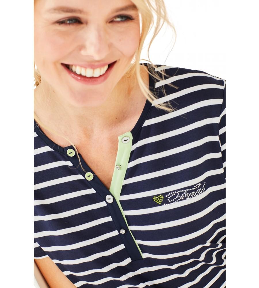 Feminines Shirt Y-Ausschnitt Halbarm 18870-609 detail1