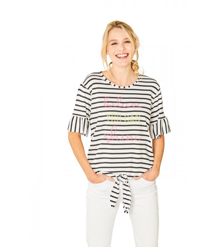 Trendiges Shirt Rundhals Halbarm 18883-226 front