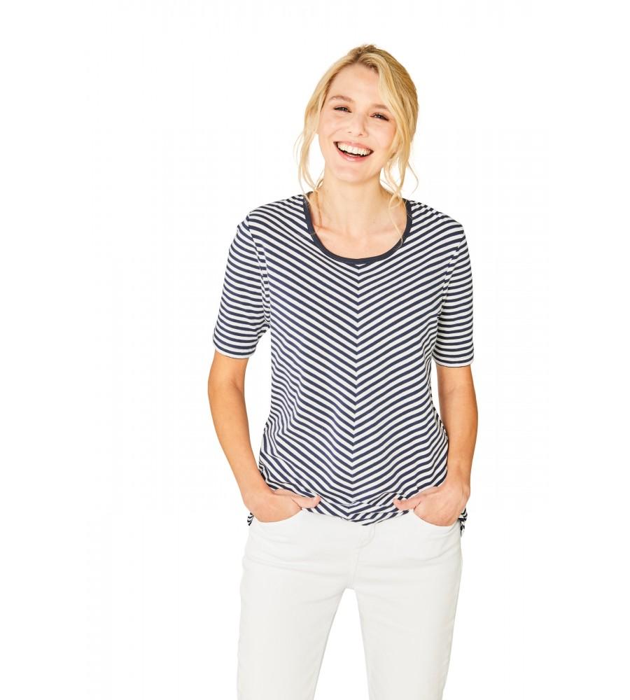 Spannendes Shirt Rundhals Halbarm 18888-609 front