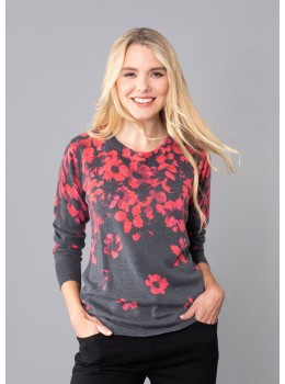 Pullover mit Bordürendruck