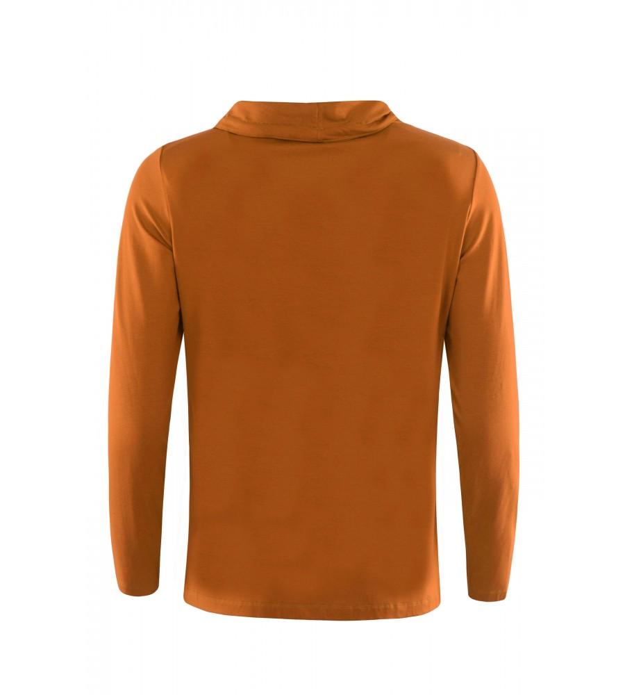 Shirt mit halsfernem Rollkragen und Zierbändern 18998-405 back