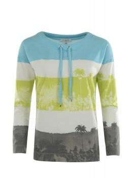 Sweatshirt mit Palmenprint