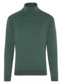 Innovativer Rollkragen-Pullover mit Baumwoll-Innenseite