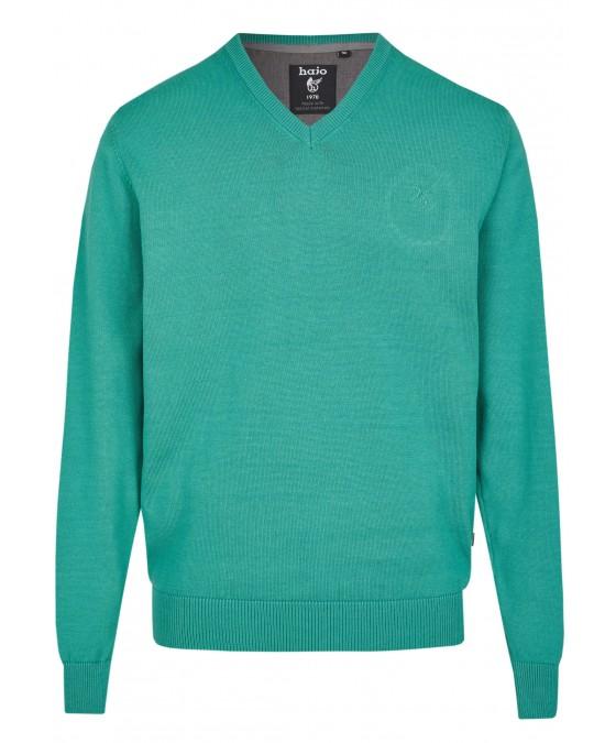 Pullover mit V-Ausschnitt in großen Größen 20076-1X-526 front