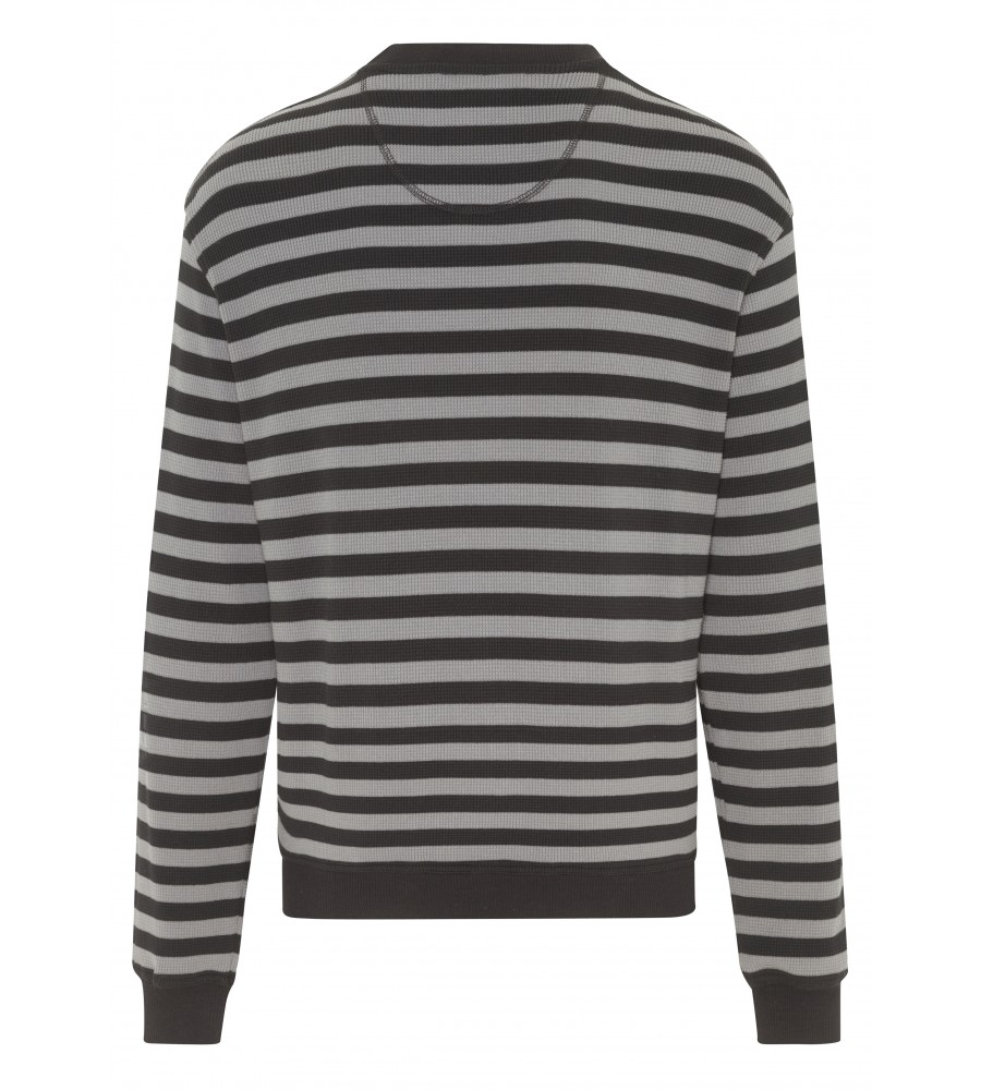 Sweatshirt mit Waffel-Pikee 25939-100 back