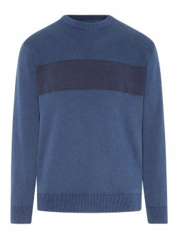 "Rundhals-Pullover ""Washed Optik"""