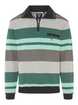 Troyer-Sweatshirt mit Block-Ringeln