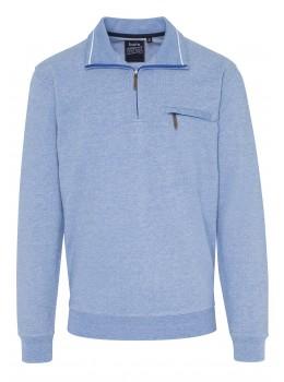 Troyer-Sweatshirt mit Längsstruktur