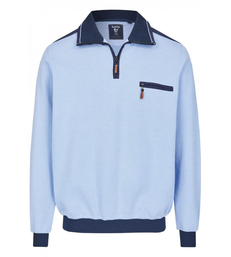 Sweatshirt mit Troyerkragen 26222-621 front