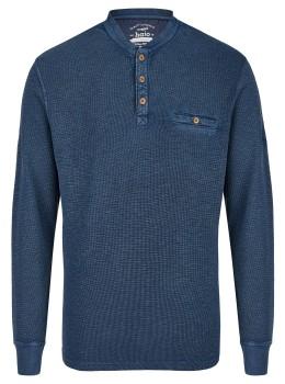 Garngefärbtes Henley-Shirt