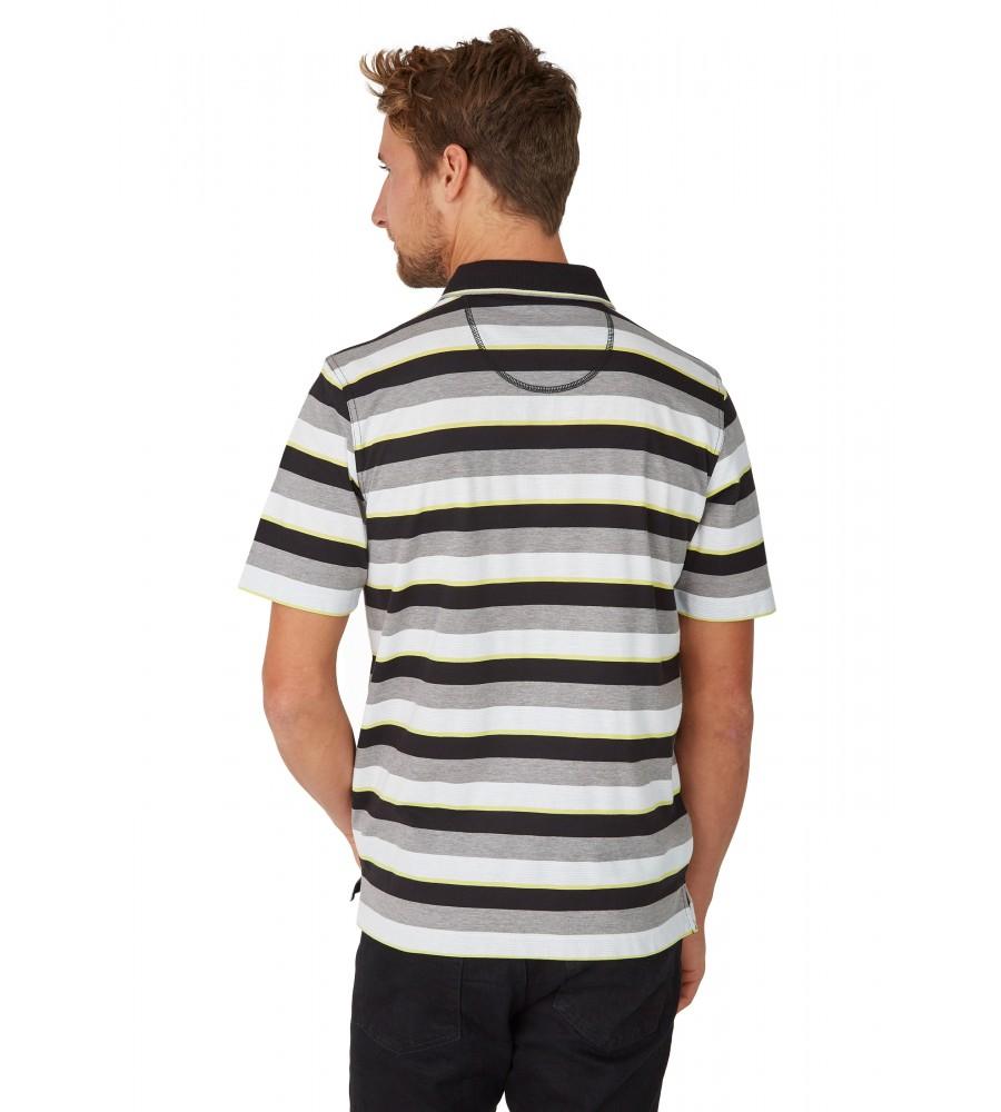 Poloshirt mit garngefärbtem Streifenverlauf 26618-100 back