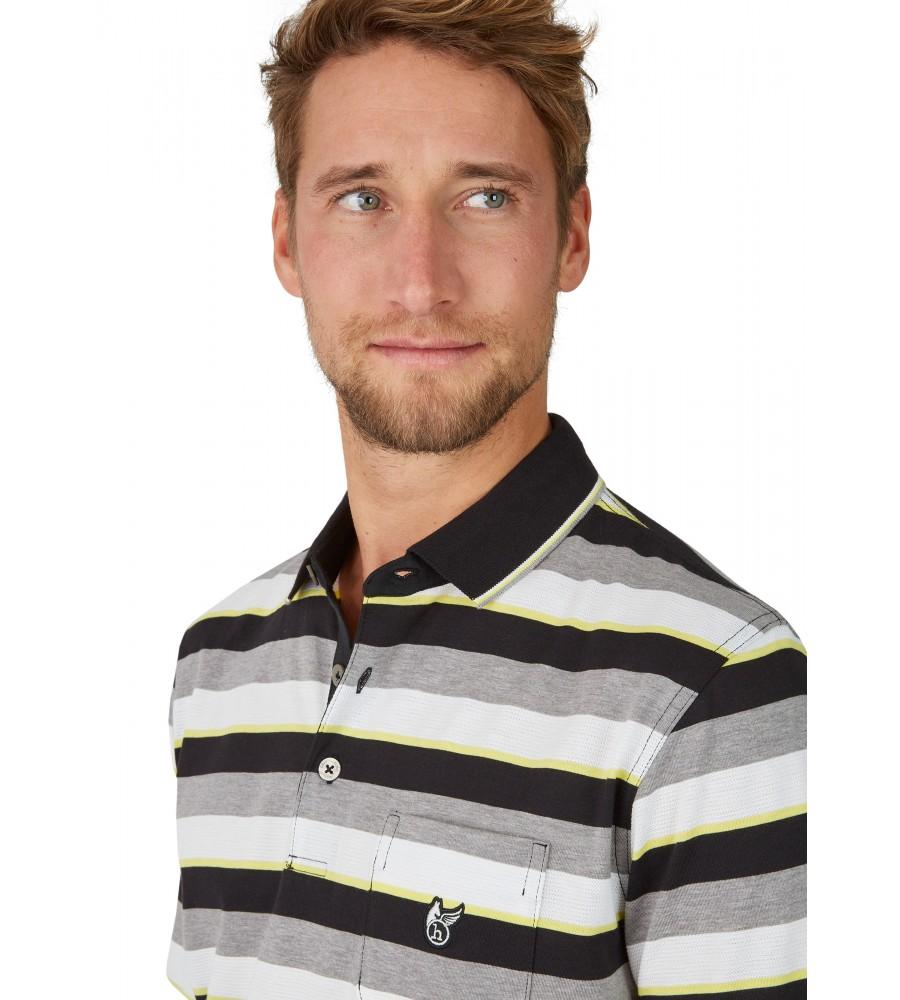Poloshirt mit garngefärbtem Streifenverlauf 26618-100 detail1
