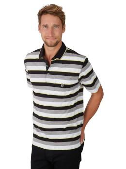 Poloshirt mit garngefärbtem Streifenverlauf
