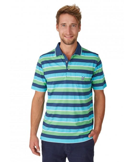 Poloshirt mit garngefärbtem Streifenverlauf 26618-638 front