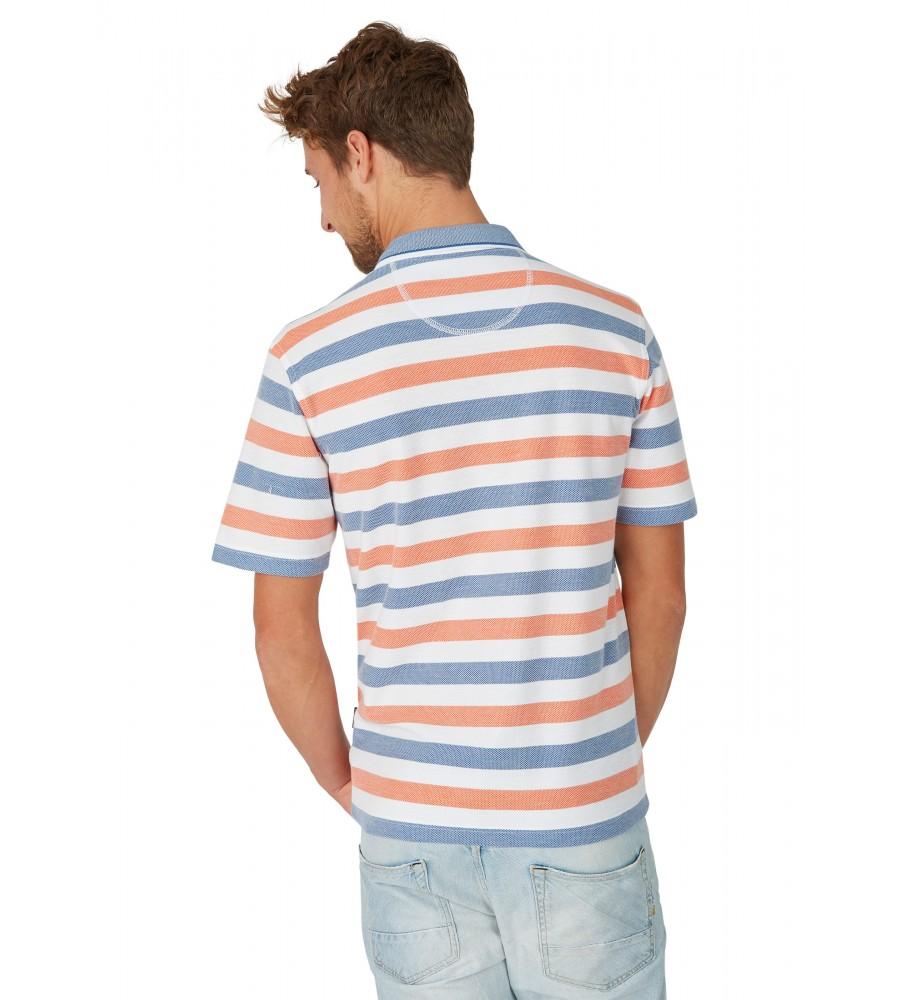Strukturiertes Poloshirt mit Ringelmuster 26621-200 back