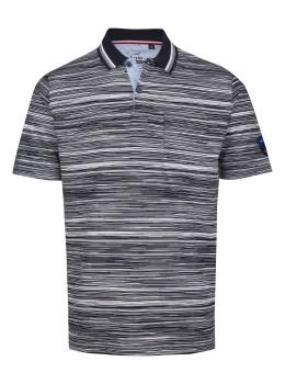 Poloshirt in garngefärbtem Effektgarn
