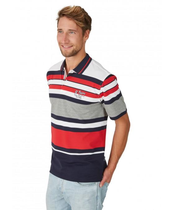 Pikee-Poloshirt mit Ringelverlauf 26624-609 front