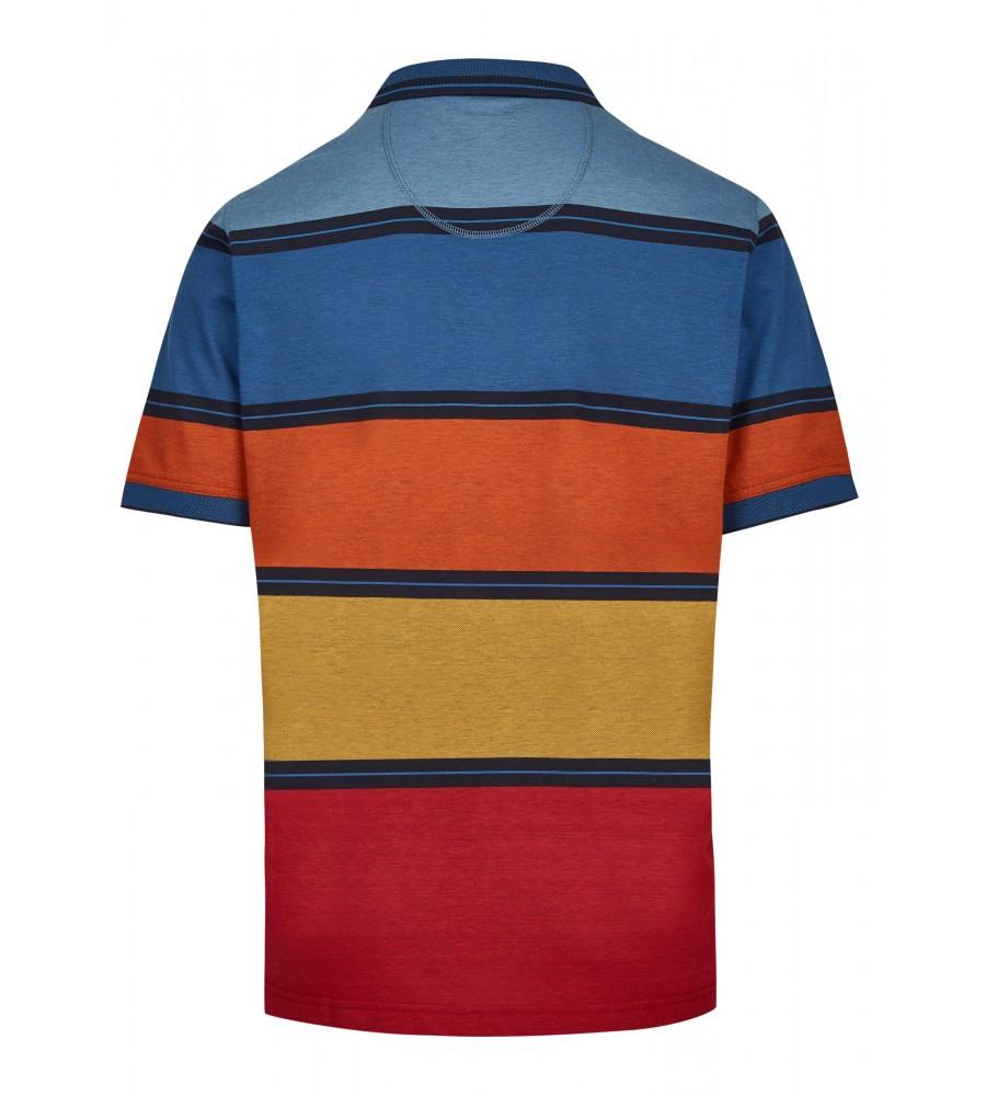 Pikee-Poloshirt mit stimmigen Blockstreifen 26628-609 back