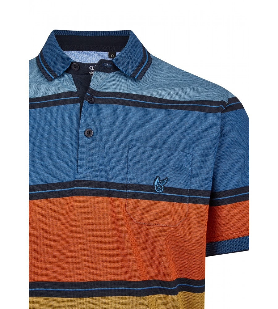 Pikee-Poloshirt mit stimmigen Blockstreifen 26628-609 detail1