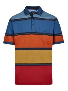 Pikee-Poloshirt mit stimmigen Blockstreifen