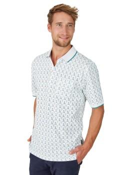 Pikee-Poloshirt mit Alloverdruck
