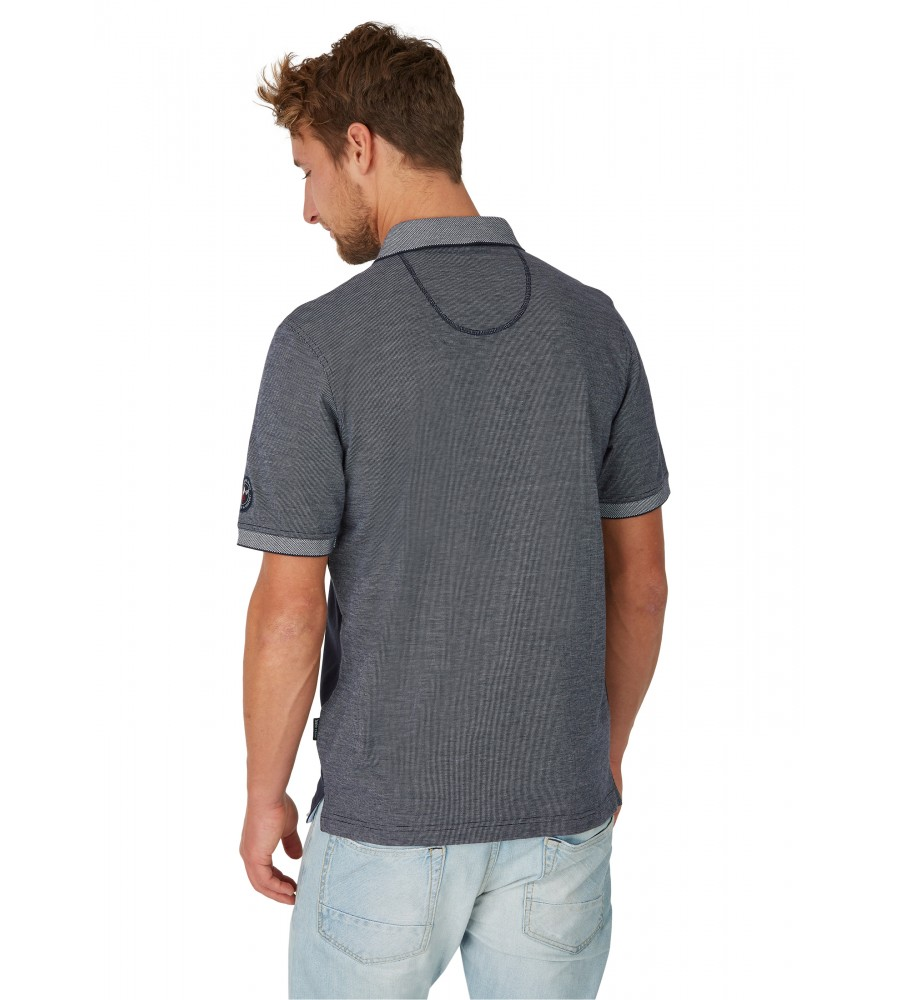 Poloshirt in Zweitonoptik 26632-609 back