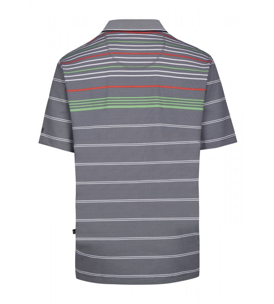 Funktions-Poloshirt mit Ringelmuster 26641-609 back
