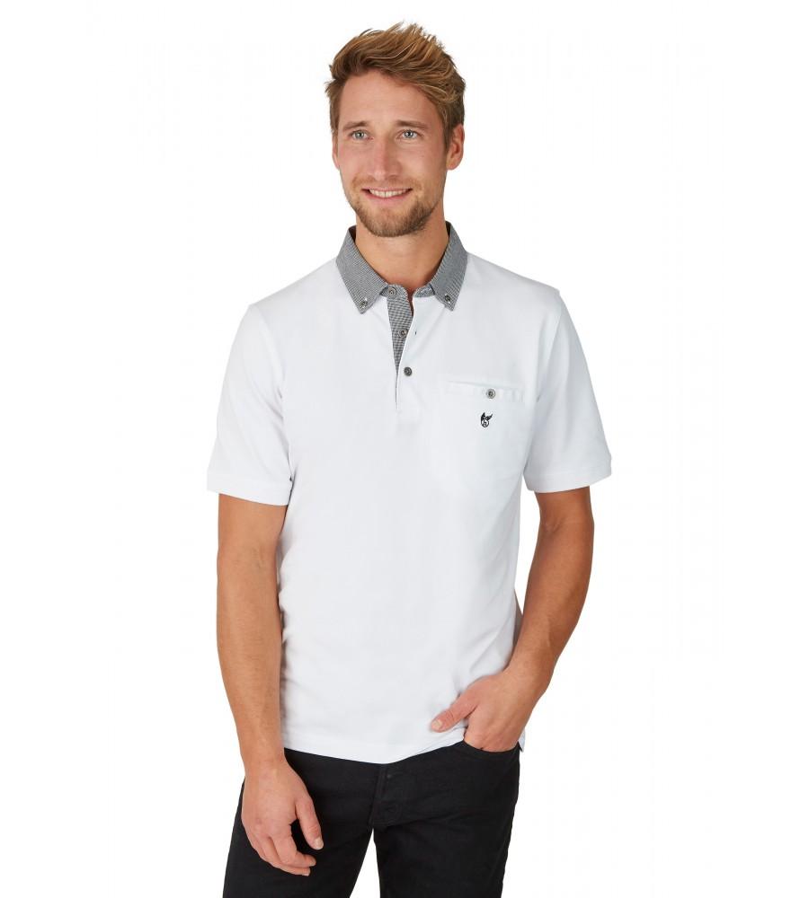 Pikee-Poloshirt mit Button-Down-Kragen 26643-200 front