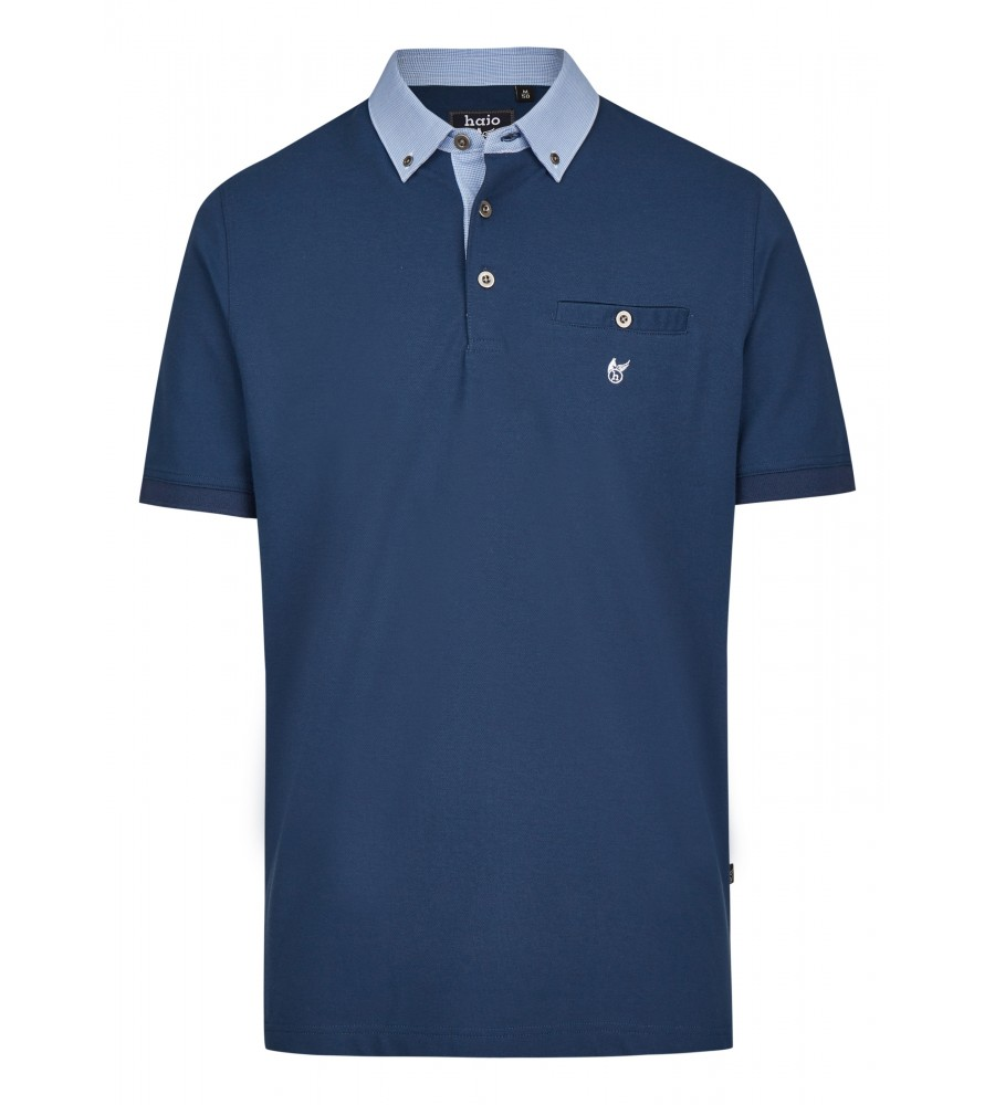 Pikee-Poloshirt mit Button-Down-Kragen 26643-638 front