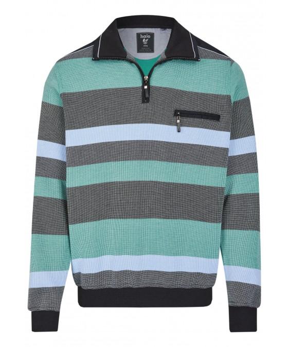 Sweatshirt mit Troyerkragen 26650-100 front