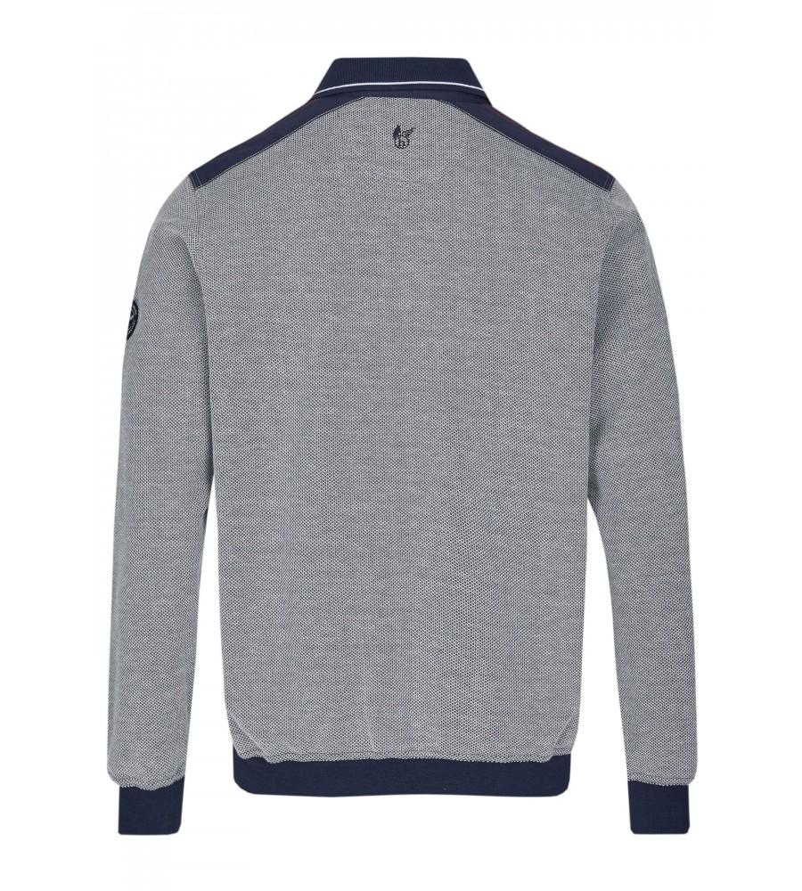 Sweatshirt mit Polokragen 26664-609 back