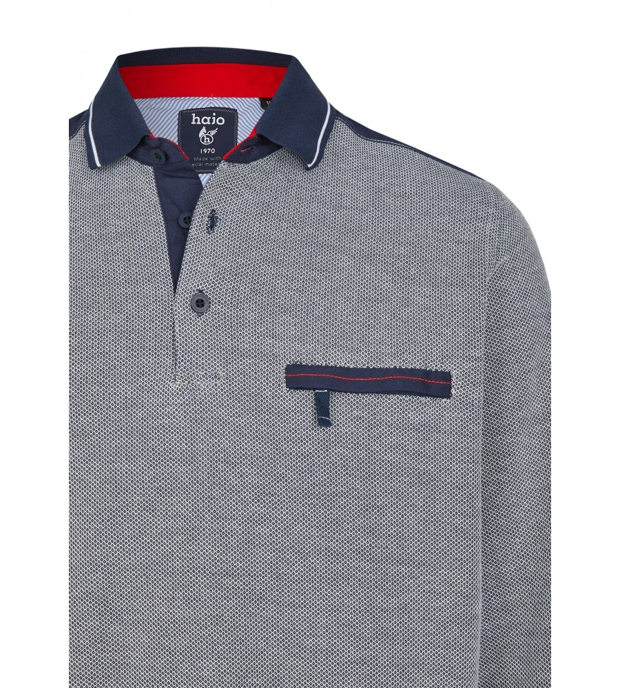 Sweatshirt mit Polokragen 26664-609 detail1