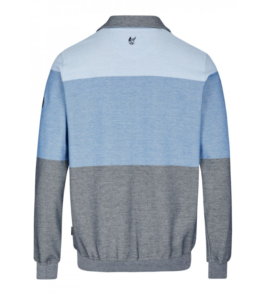 Sweatshirt mit Troyerkragen 26665-621 back