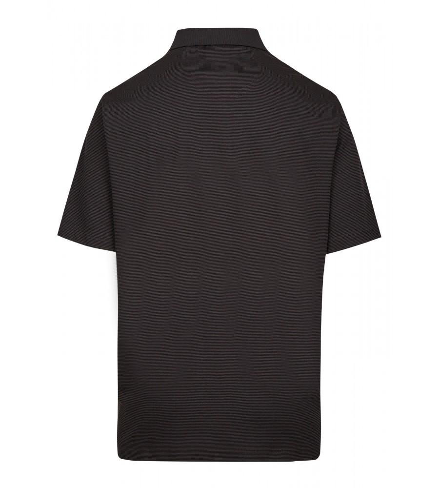 Softknit-Poloshirt mit feinem Streifenverlauf 26681-100 back