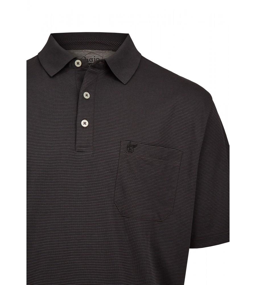 Softknit-Poloshirt mit feinem Streifenverlauf 26681-100 detail1