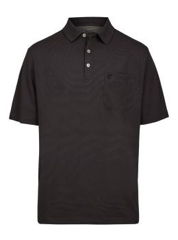 Softknit-Poloshirt mit feinem Streifenverlauf
