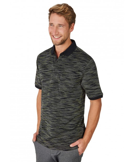 Poloshirt mit edler Oberflächenoptik 26682-100 front