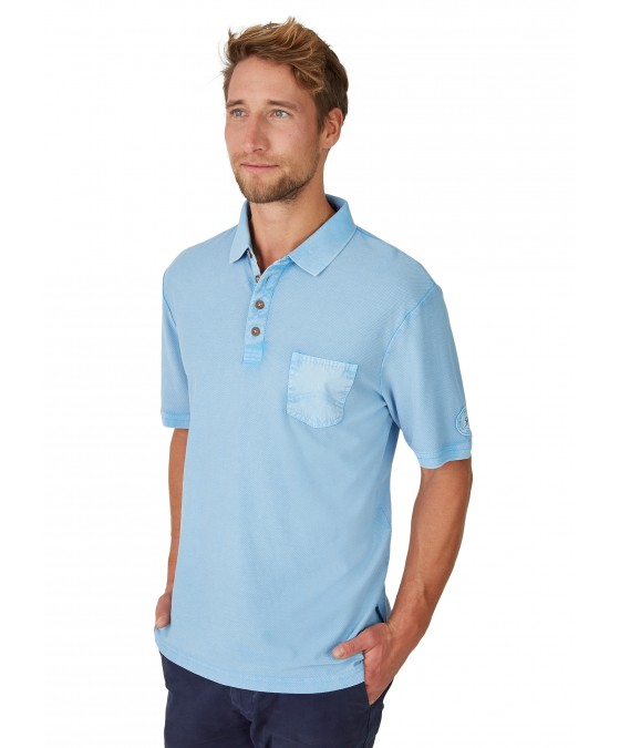 Washer-Poloshirt in Flammengarn 26689-621 front