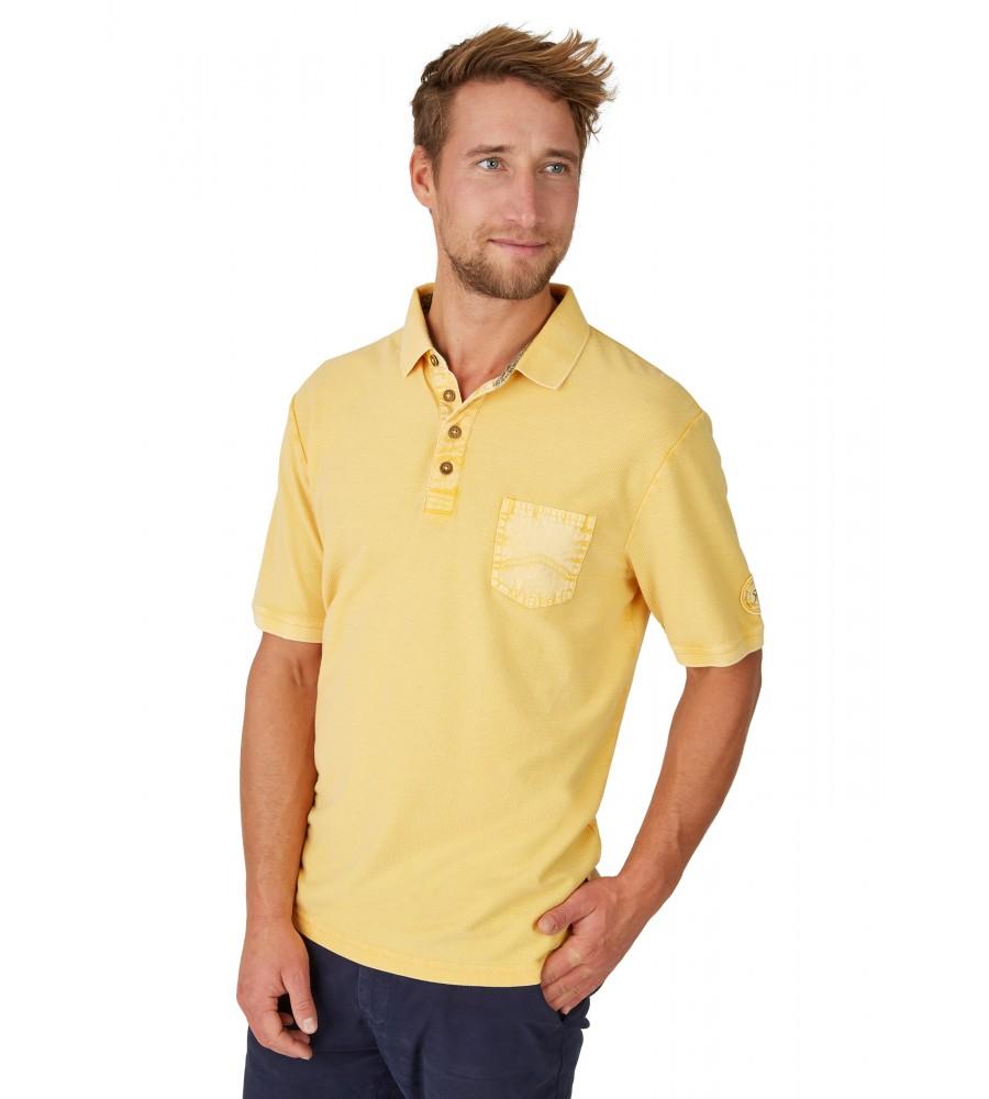 Washer-Poloshirt mit strukturierter Oberfläche 26690-352 front
