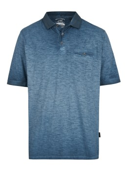Washer-Poloshirt aus Flammengarn