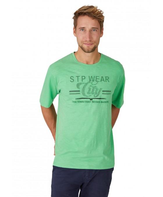 Rundhals T-Shirt mit Reliefdruck 26702-521 front