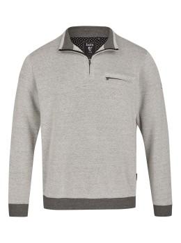 Sweatshirt in Bi-Color-Struktur