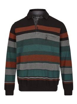 Klassisches Polosweatshirt